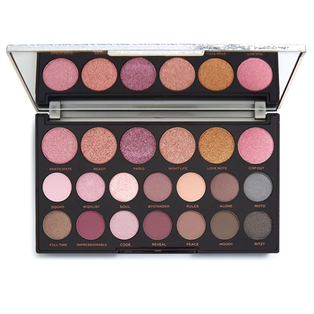 Revolution paletka očných tieňov - Jewel Collection Eyeshadow Palette - Opulent