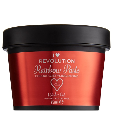 I Heart Revolution barevná pasta na vlasy - Rainbow Paste Red Flame