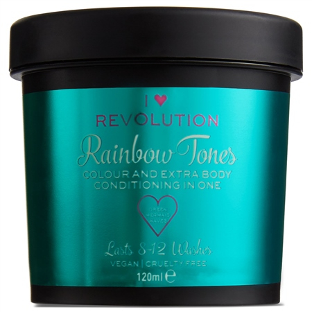 I Heart Revolution privremena boja za kosu - Rainbow Tones Green Mermaid Waves
