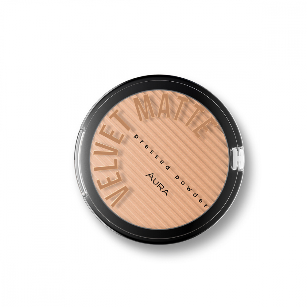 Aura kompaktni puder  - Velvet Matte Pressed Powder - 313 Honey