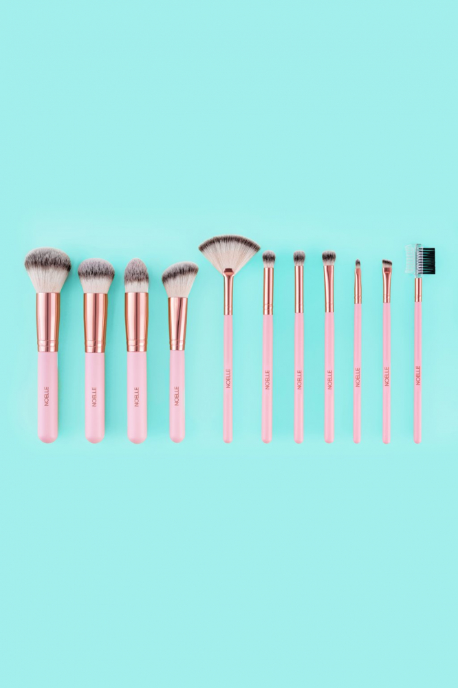 Noelle Brush set čopičev - Brush Set Rose Gold - 11/1