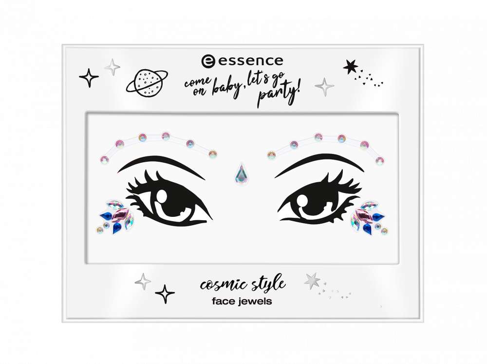 essence Schmucksteine - Come On Baby, Let's Go Party! - Cosmic Style Face Jewels - 01 Chill With The Stars