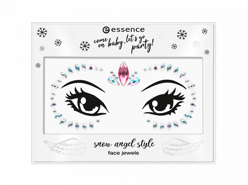 essence kamienky na tvár - Come On Baby, Let's Go Party! - Snow Angel Style Face Jewels - 01 I Believe In Angel
