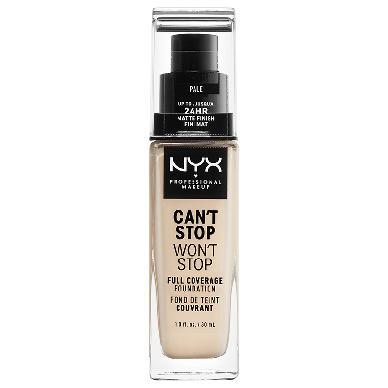 NYX Professional Makeup tekutý make-up  - Can't Stop Won't Stop Full Coverage Foundation - Pale