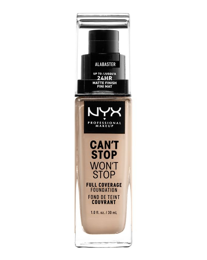 NYX Professional Makeup фон-дьо-тен - Can't Stop Won't Stop Full Coverage Foundation - Alabaster