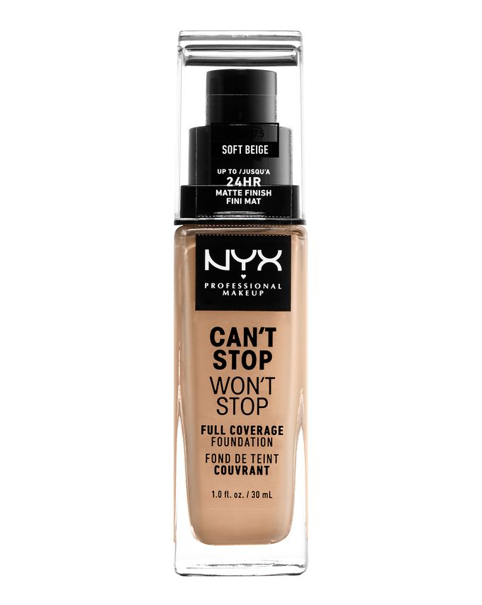 NYX Professional Makeup фон-дьо-тен - Can't Stop Won't Stop Full Coverage Foundation - Soft Beige