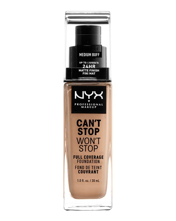 NYX Professional Makeup tekući puder - Can't Stop Won't Stop Full Coverage Foundation - Medium Buff