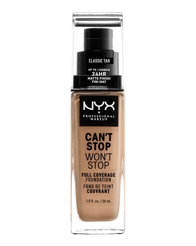 NYX Professional Makeup фон-дьо-тен - Can't Stop Won't Stop Full Coverage Foundation - Classic Tan