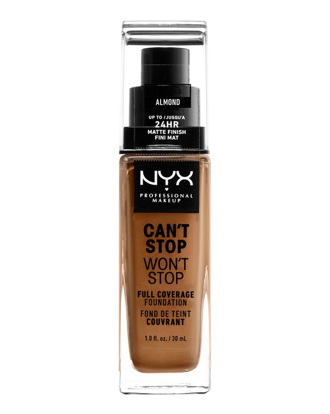 NYX Professional Makeup tekutý make-up - Can't Stop Won't Stop Full Coverage Foundation - Almond