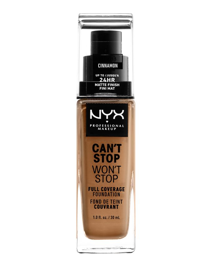 NYX Professional Makeup tekutý make-up - Can't Stop Won't Stop Full Coverage Foundation - Cinnamon