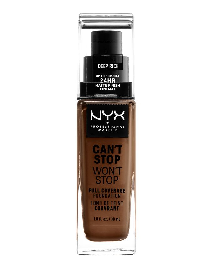 NYX Professional Makeup фон-дьо-тен - Can't Stop Won't Stop Full Coverage Foundation - Deep Rich