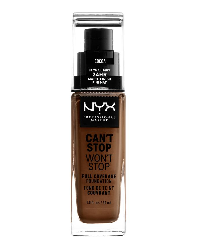NYX Professional Makeup tekutý make-up - Can't Stop Won't Stop Full Coverage Foundation - Cocoa