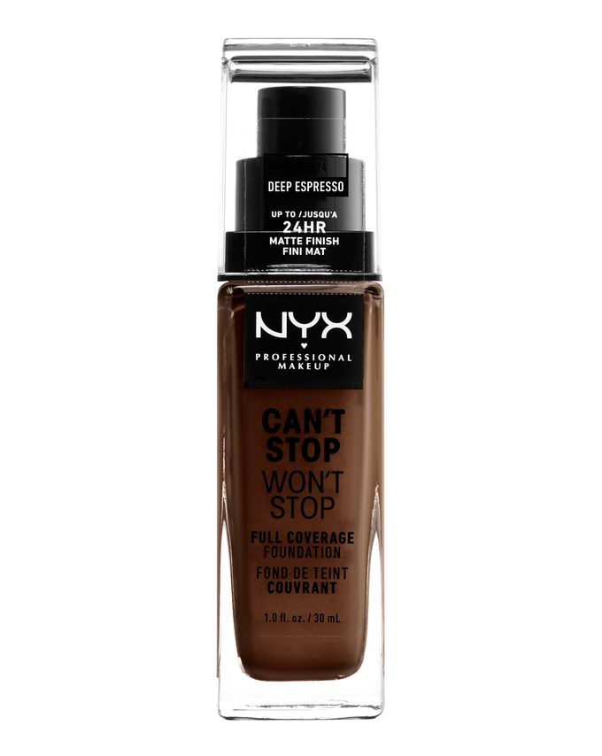 NYX Professional Makeup фон-дьо-тен - Can't Stop Won't Stop Full Coverage Foundation - Deep Espresso