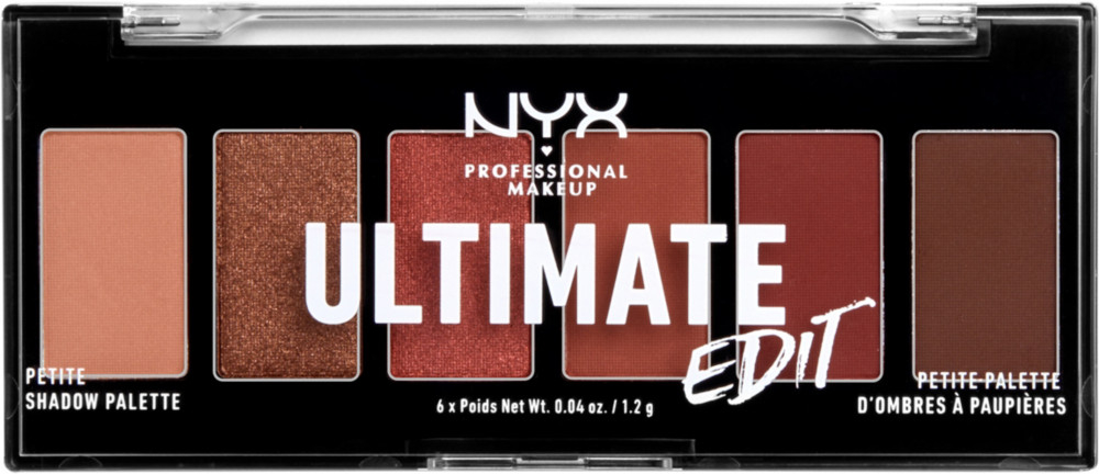 NYX Professional Makeup palette di ombretti - Ultimate Edit Petite Shadow Palette - Warm Neutrals