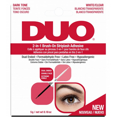 DUO Wimpernkleber - Dark 2-in-1 Brush-On Striplash Adhesive (5g) (65696)