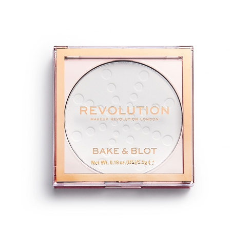 Revolution kompaktni puder - Revolution Bake & Blot - White