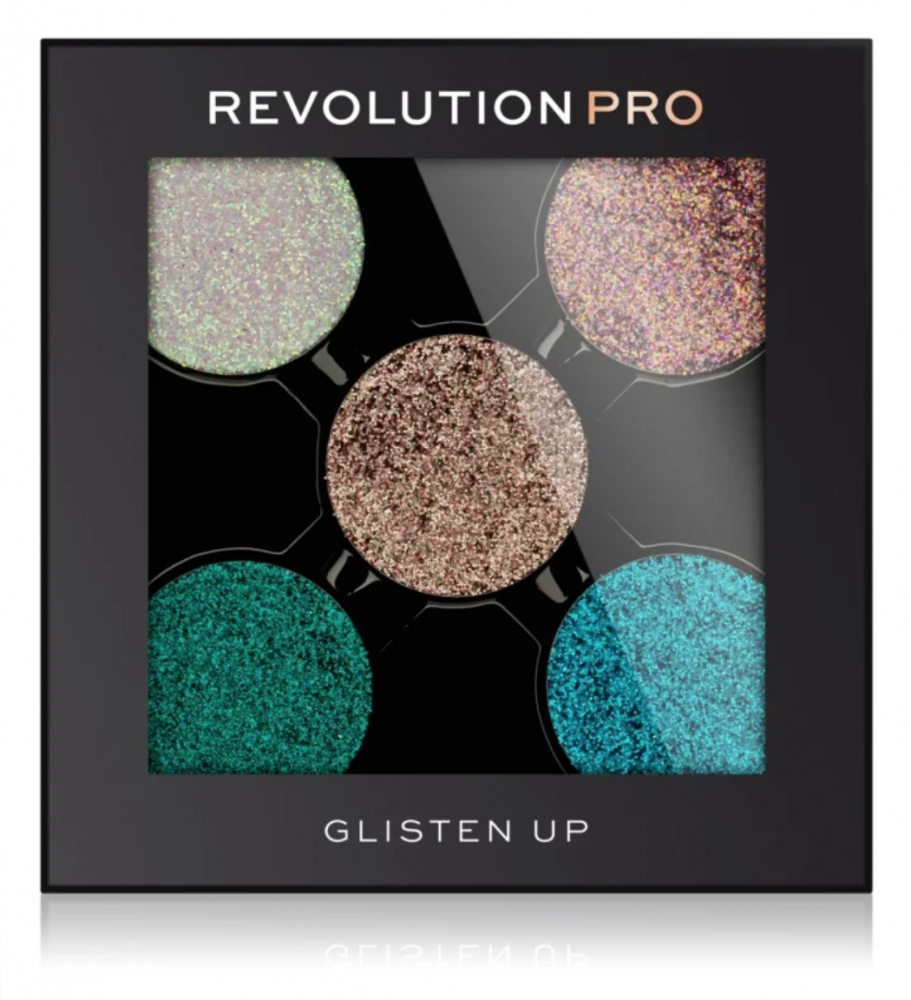 Revolution Pro sada refill třpytek - Refill Pressed Glitter Eyeshadow Pack - Glisten Up