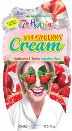 Montagne Jeunesse negovalna maska - Strawberry Cream Hydrating Mask