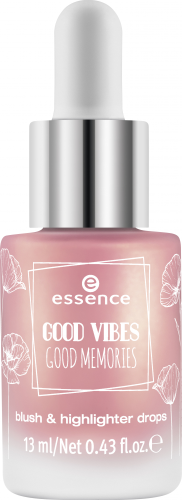 essence Rouge & Highlighter - Good Vibes Good Memories Blush & Highlighter Drops - 01 Bloom Day By Day
