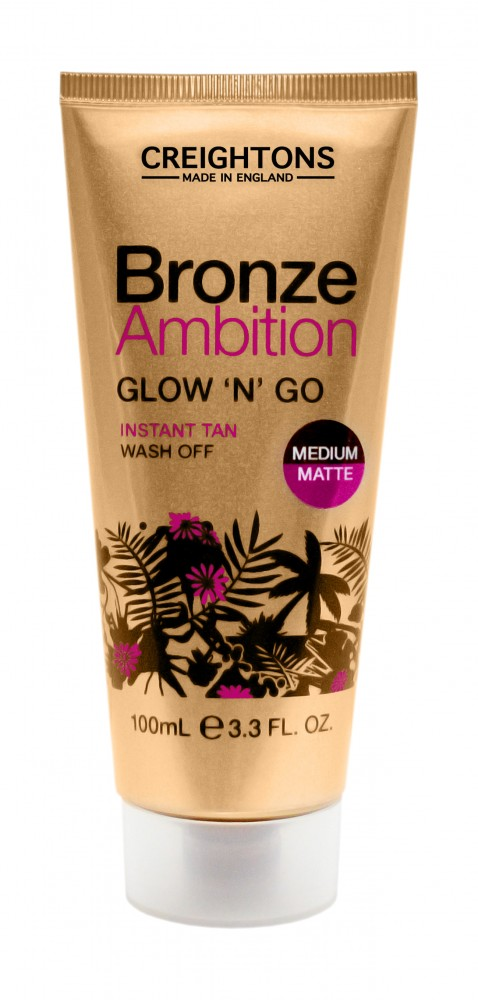 Bronze Ambition Glow'n'Go Shimmer Instant Tan Wash Off - önbarnító krém (medium/matt)