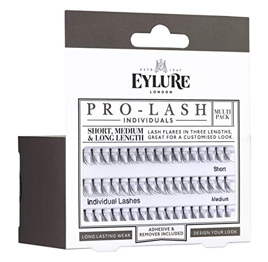Eylure umetne trepalnice - Pro-Lash Individuals Multipack Short, Medium & Long Length False Eyelashes (88796)