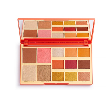 Revolution X Rachel Leary paletka - Goddess-On-The-Go Face And Shadow Palette