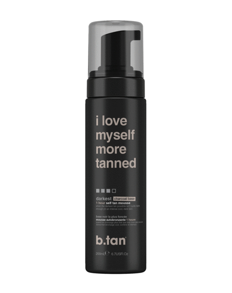 b.tan pjena za samotamnjenje - I Love Myself More Tanned - Self Tan Mousse - Darkest (Charcoal Base)
