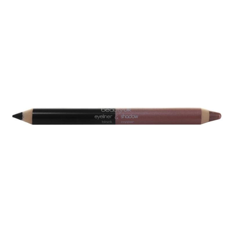 Beauty UK črtalo 2-v-1 - Double Ended Jumbo Pencil no. 4 - Black Copper