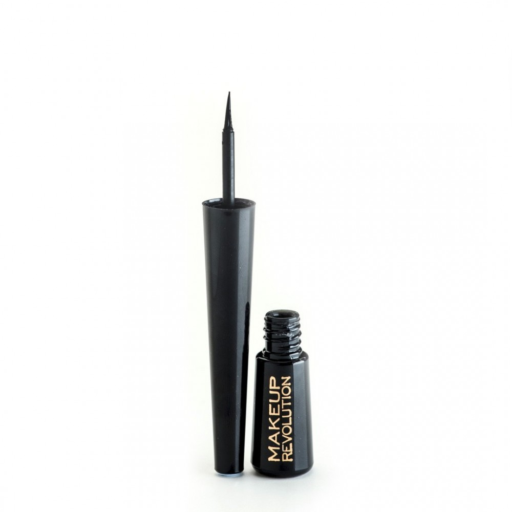 Makeup Revolution tekuté očné linky - Eyeliner Waterproof  Black