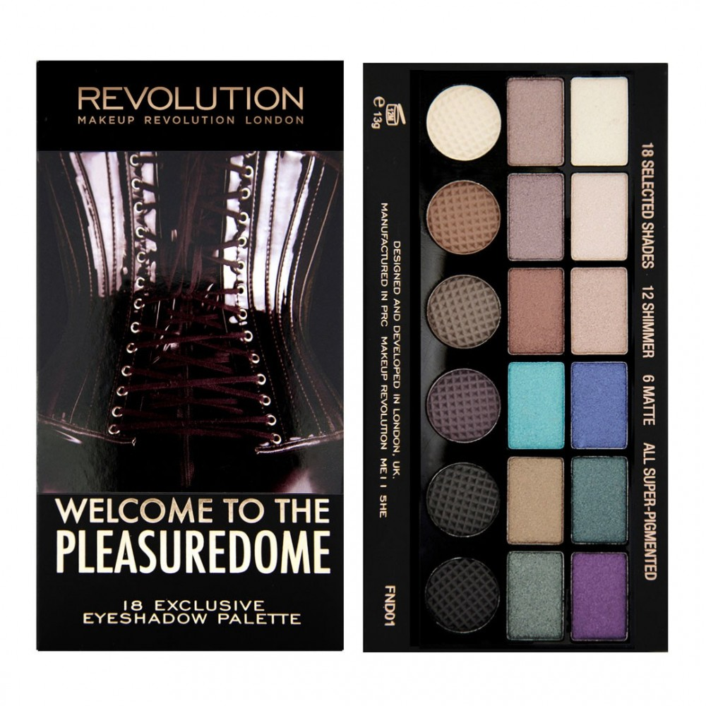 Makeup Revolution Salvation paleta senčil - Welcome to the Pleasuredome Limited Edition