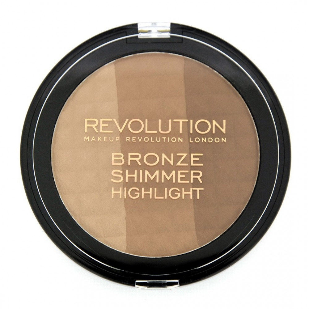Makeup Revolution bronzer i highlighter - Ultra Bronze, Shimmer & Highlighter