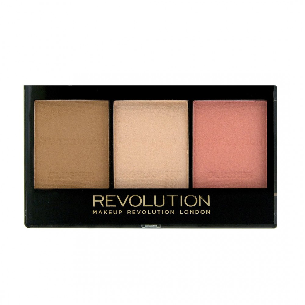 Makeup Revolution Ultra Scultp and Contour kit - kontúr paletta - Ultra Fair C01