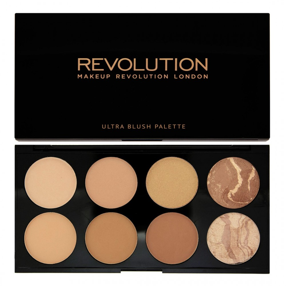 REVOLUTION палитра бронзанти - Blush and Contour Palette - All About Bronzed