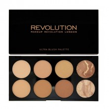 Makeup Revolution paleta bronzerjev - Blush and Contour Palette - All About Bronzed