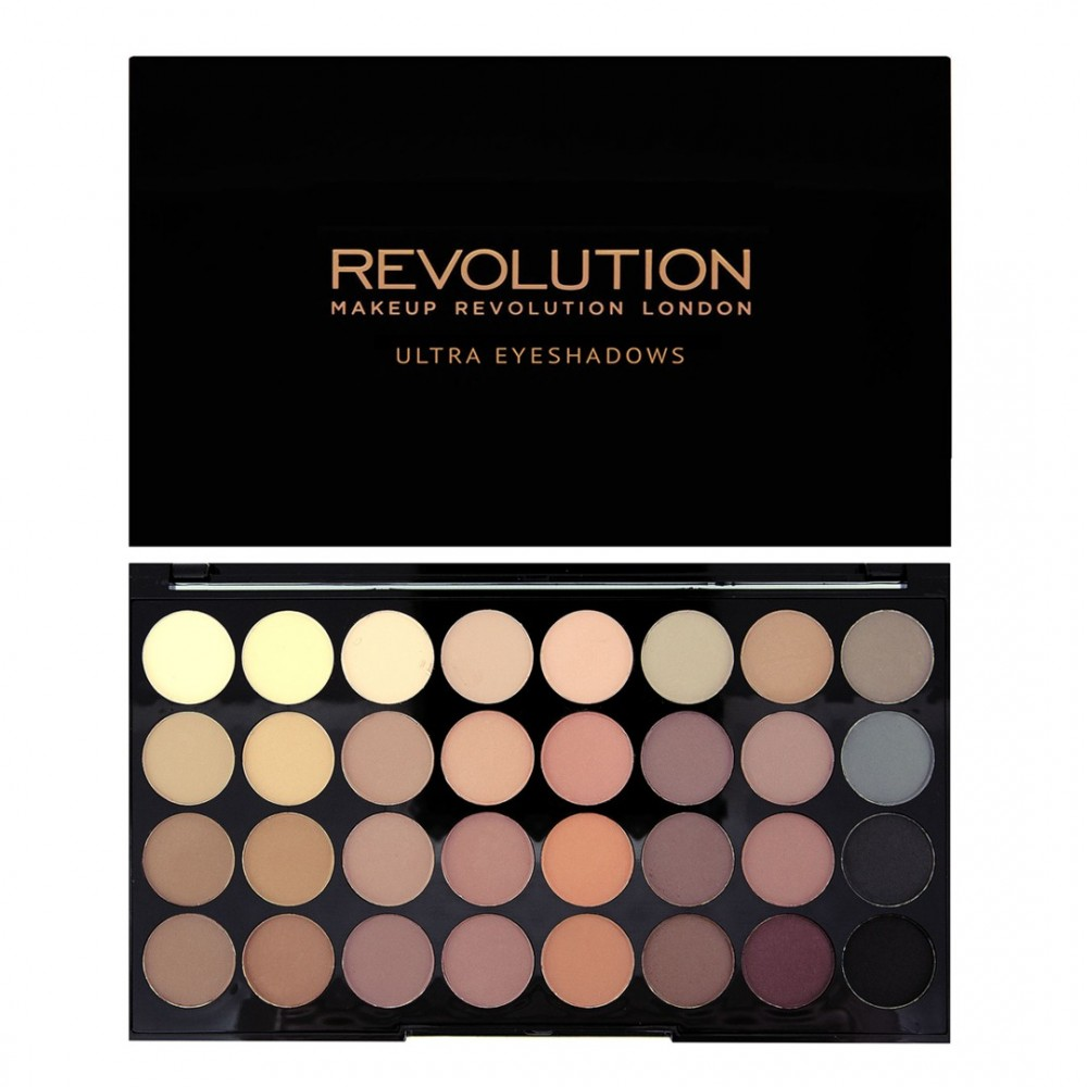 Makeup Revolution палитра 32 сенки - Flawless Matte