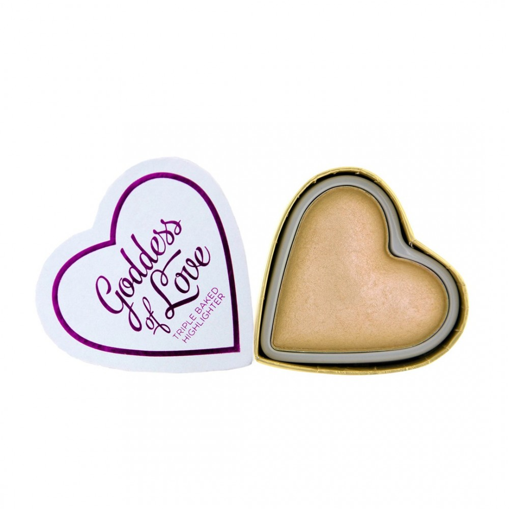 I Heart Makeup highlighter - Hearts Highlighter - Golden Goddess