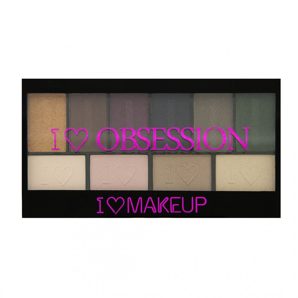 I Heart Makeup I Heart Obsession - szemhéjpúder paletta - West End Girls (Limited Edition)