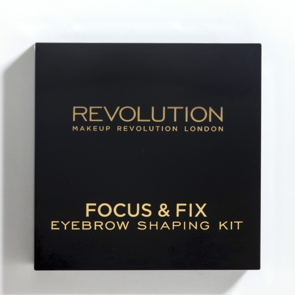 Revolution Focus & Fix Brow Kit - szemöldök paletta - Medium Dark