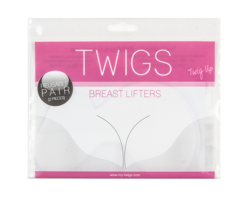 Twigs samolepiace lift-up nálepky na prsia na opakované použitie - Adhesive breast lifters for A, B and C cup - reusable