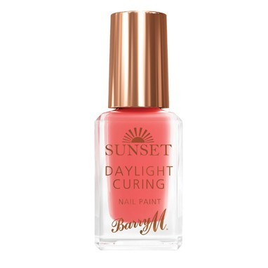 Barry M Sunset Daylight Curing lak za nohte - Peach for the Stars