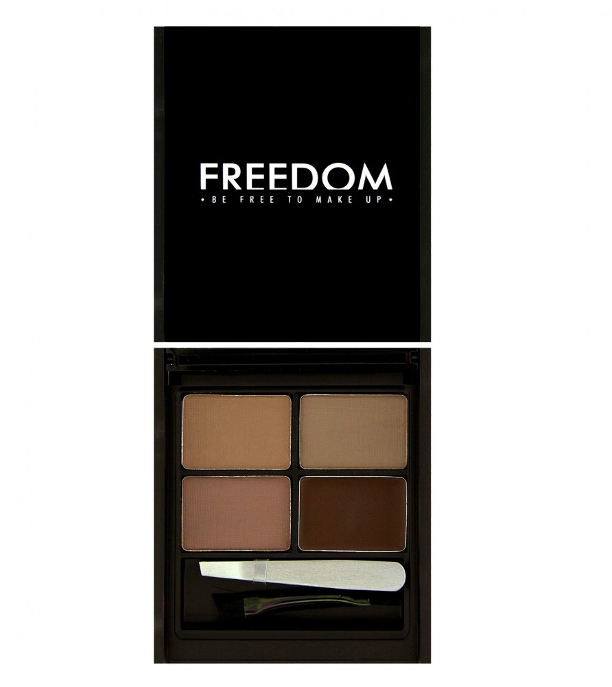 Freedom Makeup paletka na obočie - Pro Eyebrow Kit Pro Medium - Dark