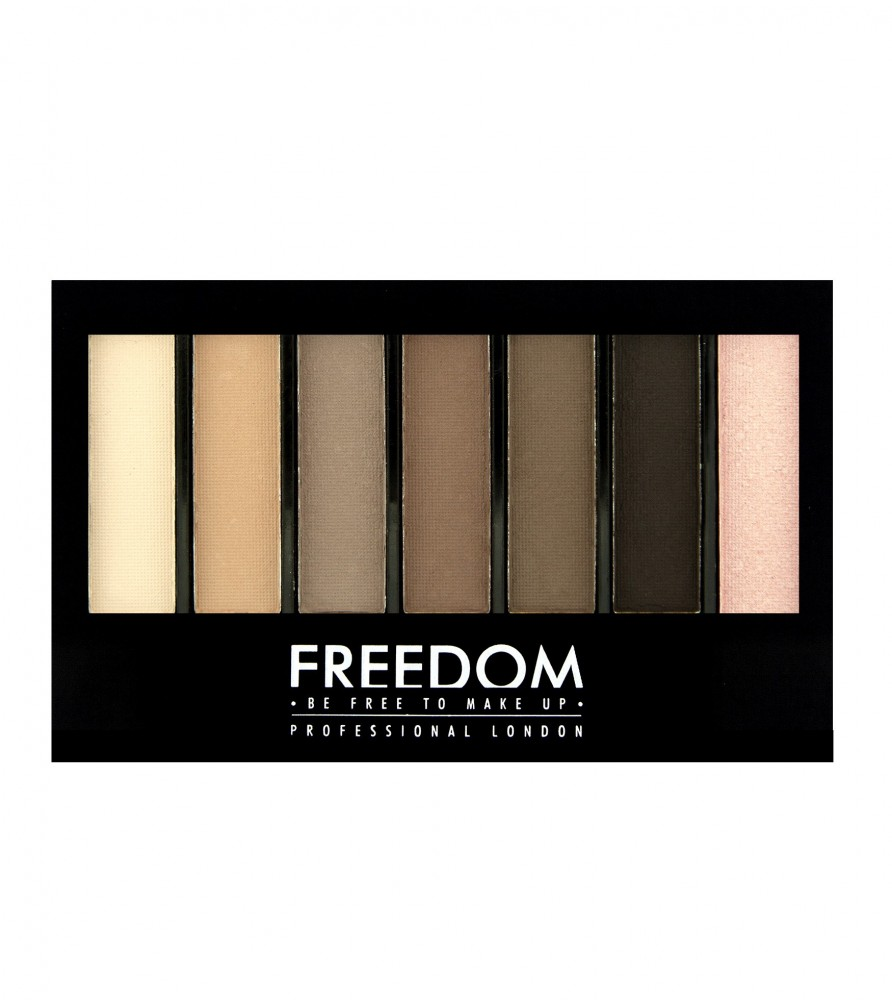 Freedom Makeup paleta sjenila i highlightera - Pro Shade & Brighten Mattes Kit 1