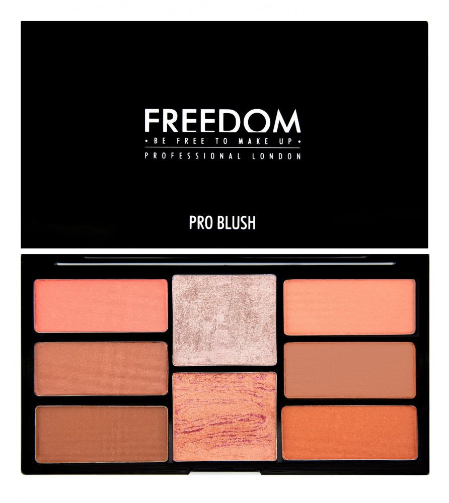 Freedom Makeup palette di blush - Pro Blush Palette - Peach and Baked