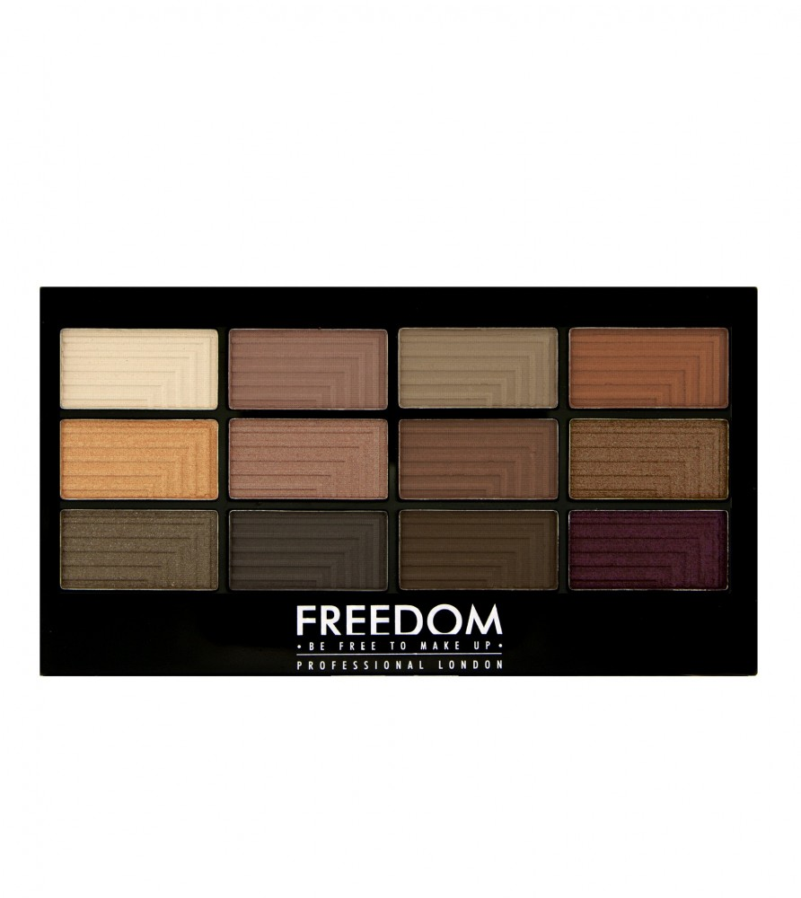 Freedom Makeup paleta 12 očných tieňov - Pro 12 Secret Rose