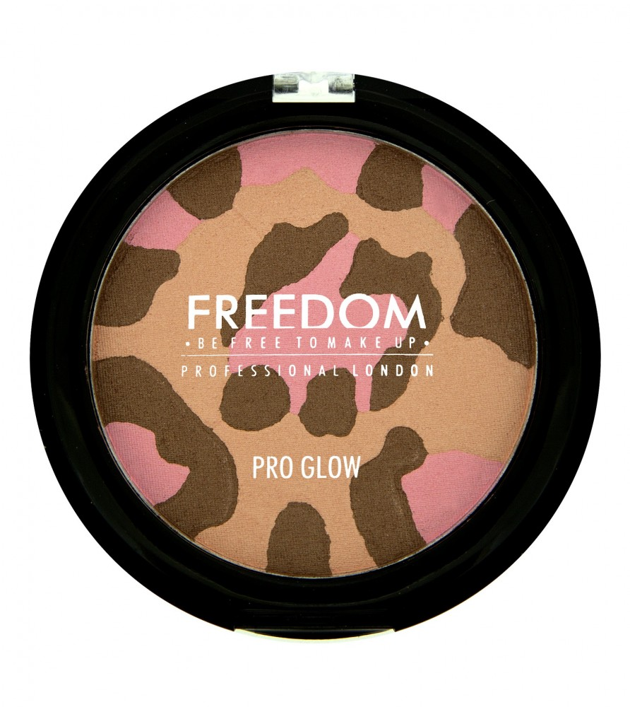 Freedom Makeup highlighter i bronzer - Pro Glow Purr