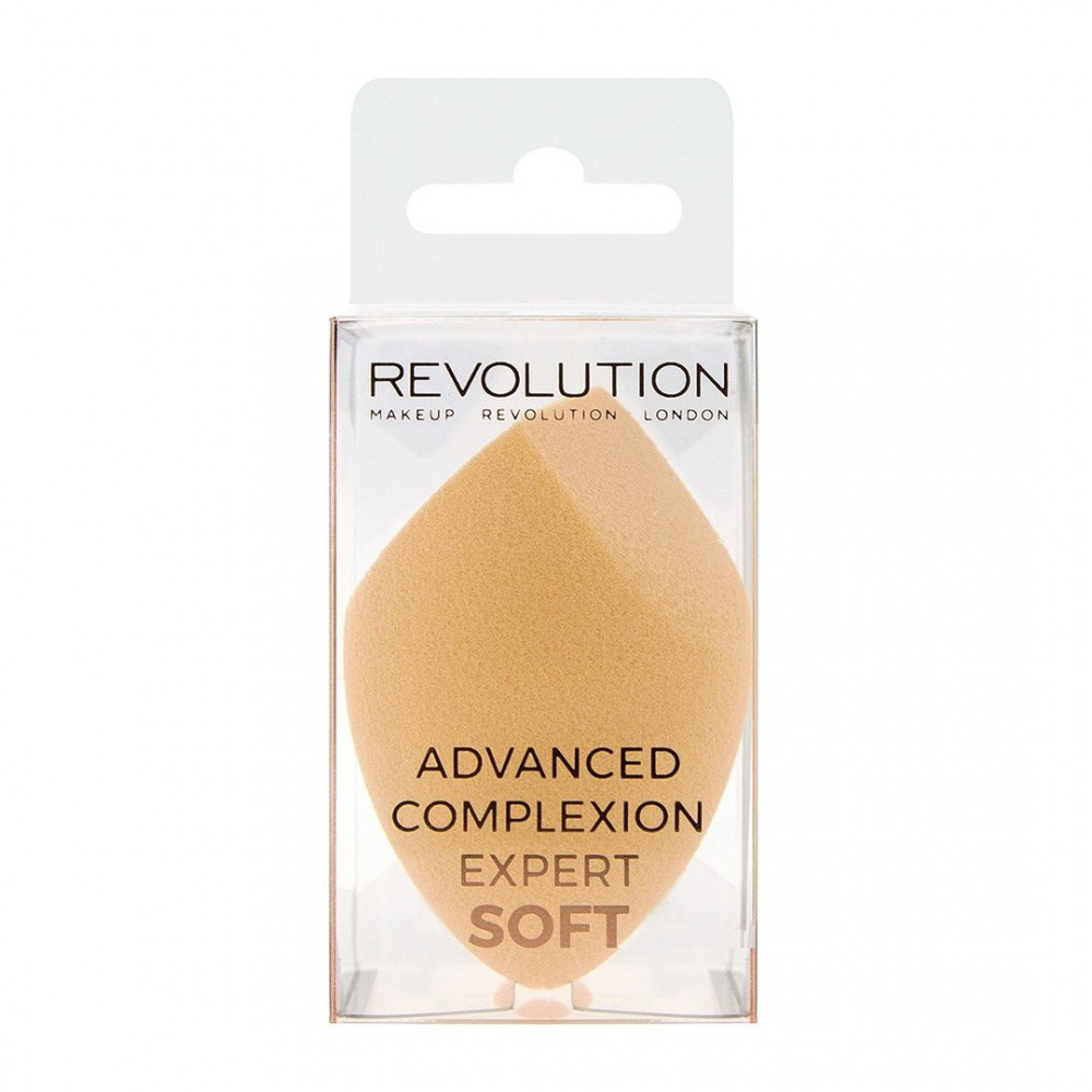 Makeup Revolution mäkká hubička na tekutý make-up - Advanced Complexion Expert Soft (beige)