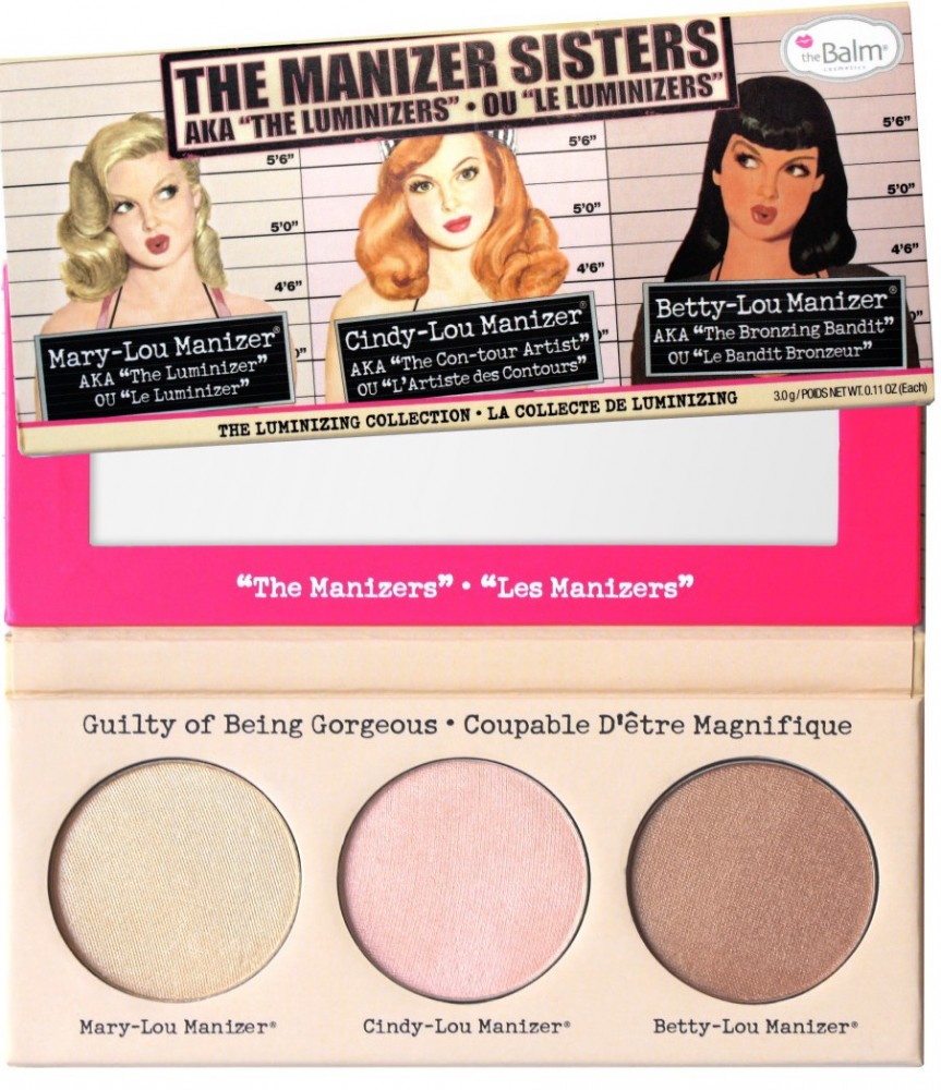 The Balm Manizers Trio (theManizer Sisters) highlighter paletta