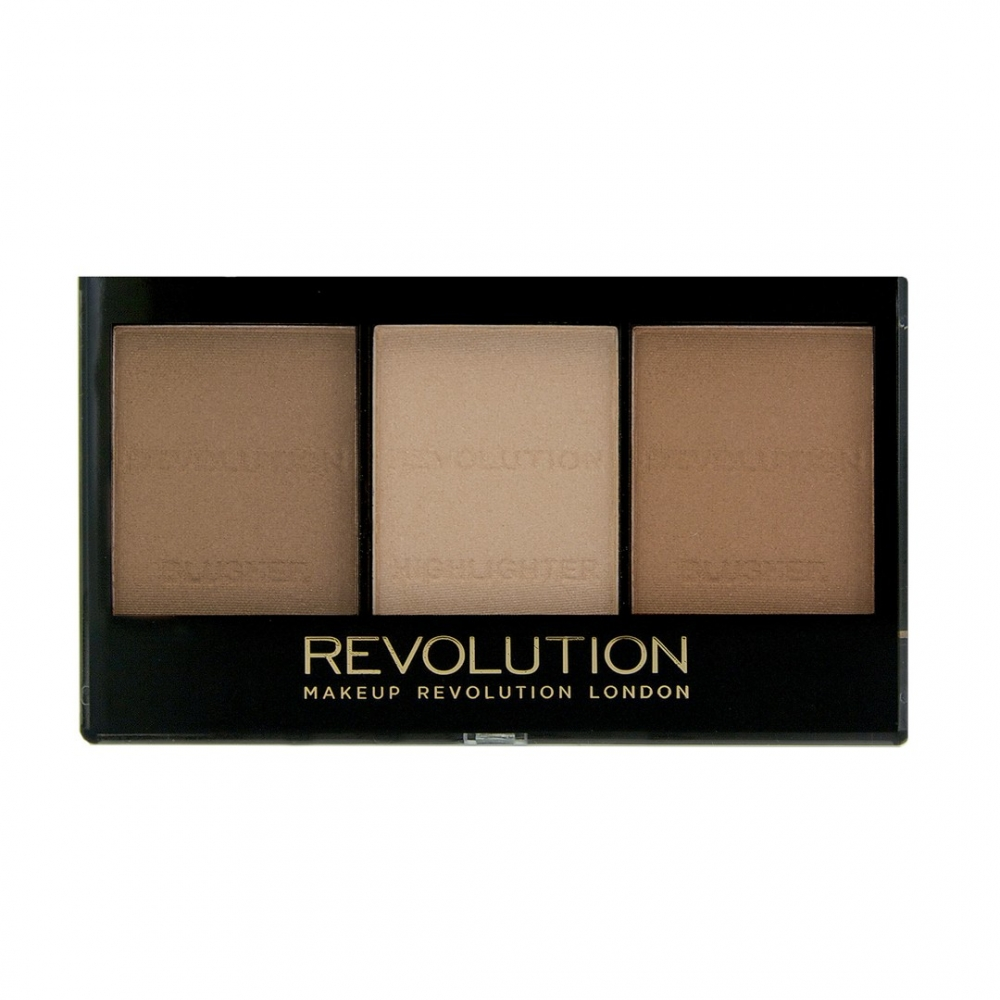 Makeup Revolution paleta za sjenčanje lica - Sculpt and Contour Ultra Brightening Contour Kit - Light Medium C04