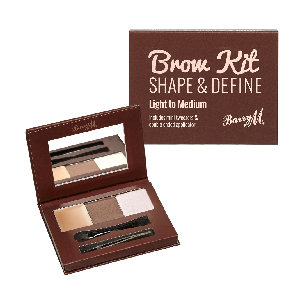 Barry M Brow Kit - szemöldök paletta - Light/Medium