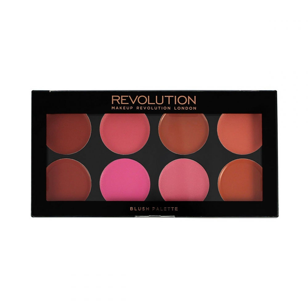 Makeup Revolution paletka krémových líceniek - Cream Blush Palette - Blush Melts